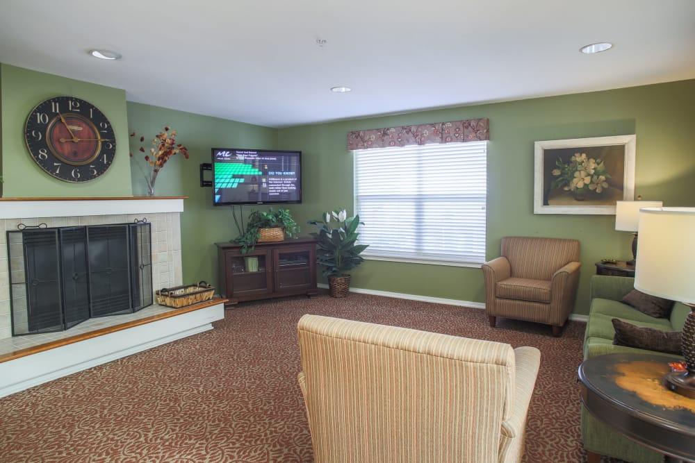 Model living room at Gencare LifeStyle at Steel Lake in Federal Way, Washington