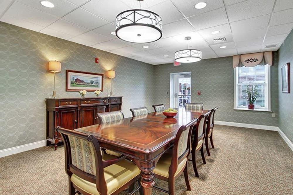 Quiet, private Keystone Villa at Ephrata dining room in Ephrata, Pennsylvania