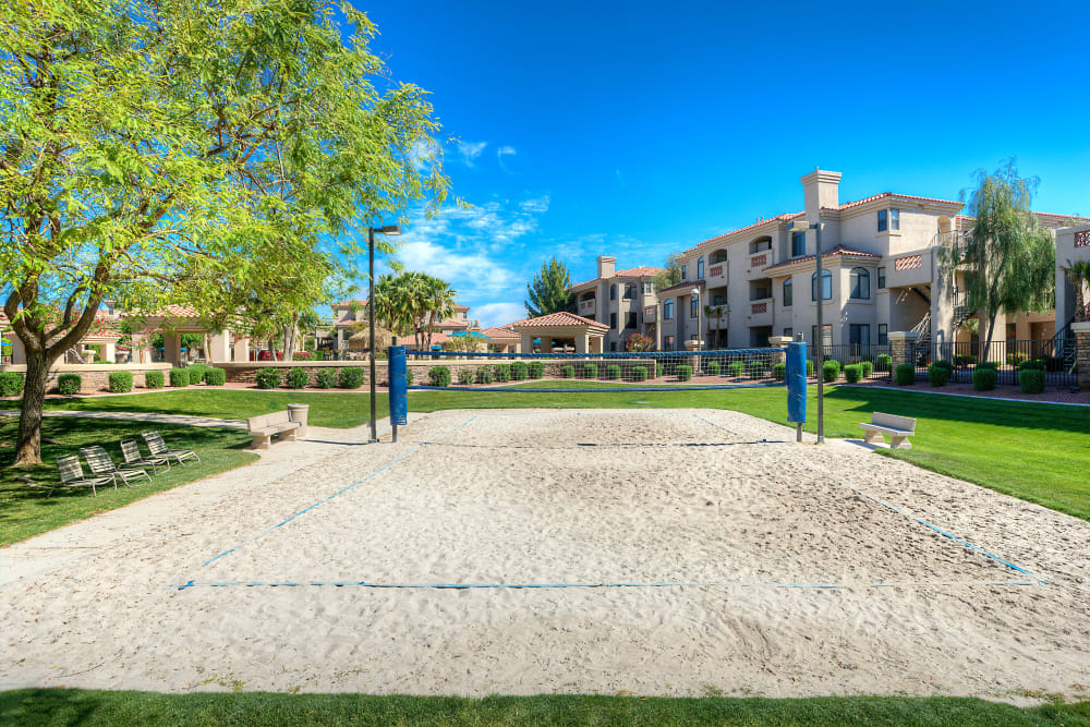 Sand volleyball court at San Pedregal in Phoenix, Arizona