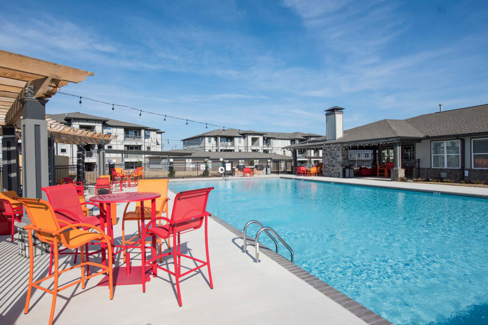 Community pool at Landmark Apartments in Little Rock, Arkansas