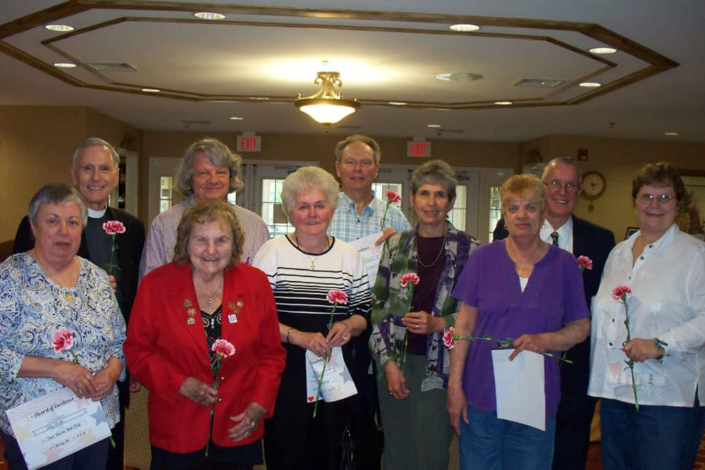 Residents with awards at Heritage Hill Senior Community in Weatherly, Pennsylvania