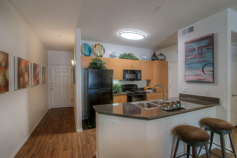 Gourmet kitchen in model home at Park on Bell in Phoenix, Arizona