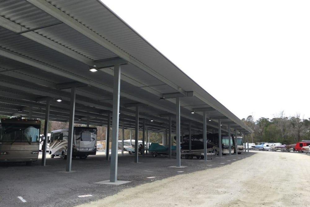 RV parking at Monster Self Storage in Wando, SC