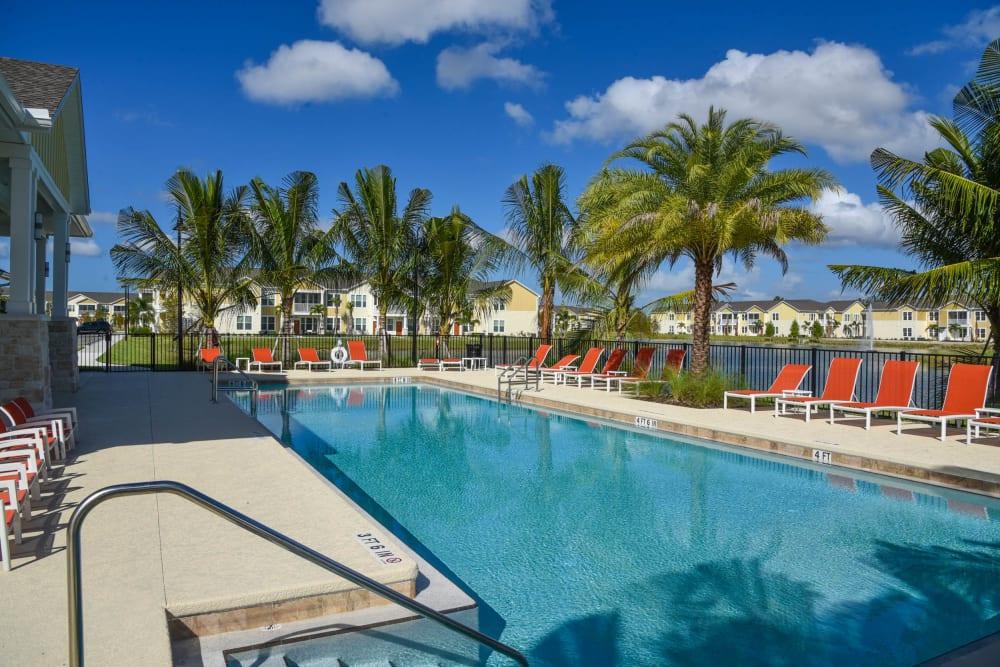Resort-style pool at Springs at Port Orange in Port Orange, Florida