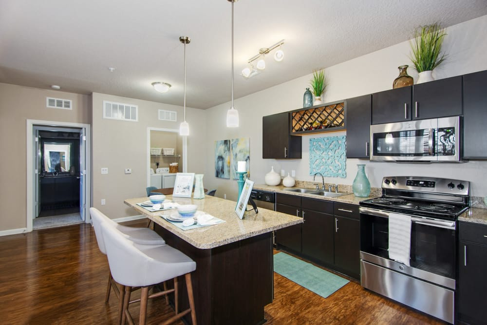 Sleek kitchen at Springs at Port Orange in Port Orange, Florida