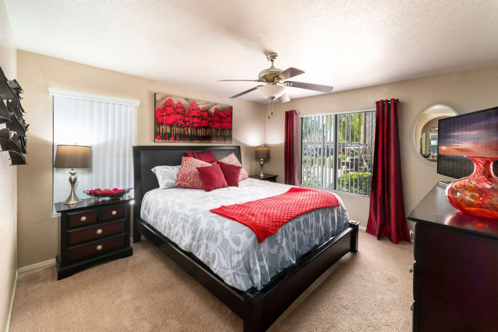 Bedroom at The Palisades at Paradise Valley Mall in Phoenix, Arizona