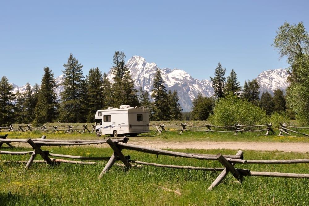 RV camping near Summit Self-Storage in Driggs, Idaho