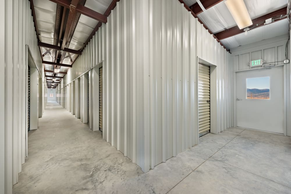 Indoor storage units at Summit Self-Storage in Victor, Idaho