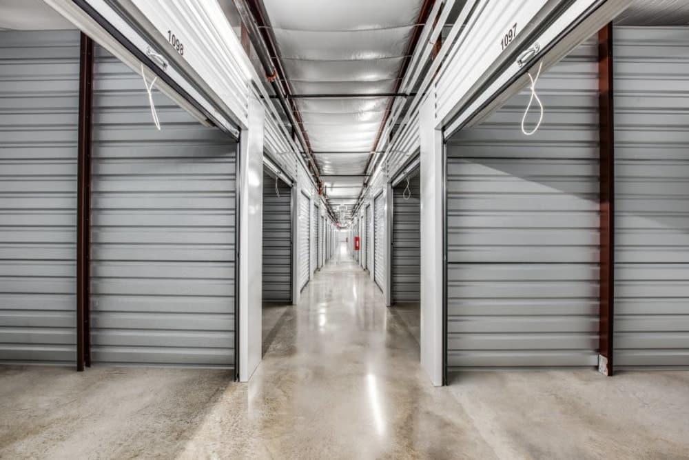 Indoor storage units at Advantage Storage - Arlington in Texas