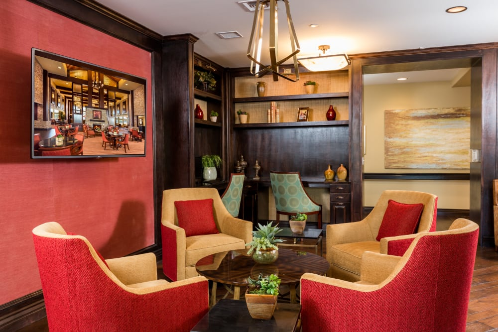 Couch area at Meridian at Stone Creek in Milton, Washington