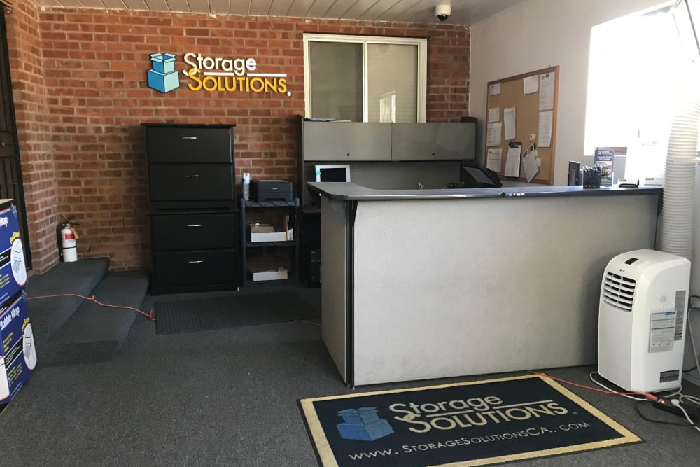 Front desk at Storage Solutions in Fremont, California