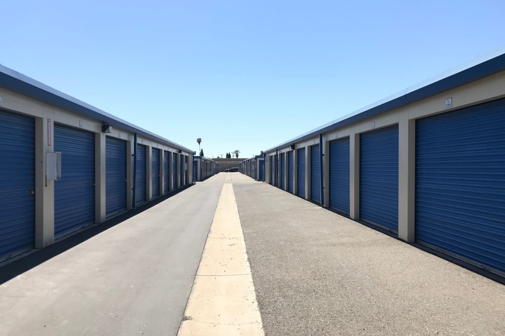 Accessible storage containers at Storage Solutions in Fremont, California
