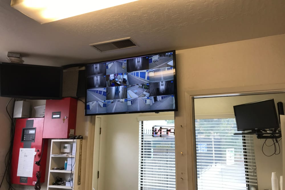 Security features at Storage Solutions in Manteca, California