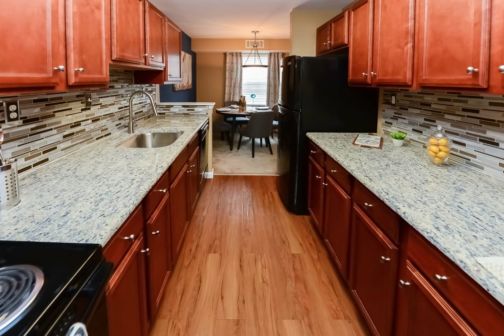 Beautiful Kitchen at Montgomery Manor Apartments & Townhomes in Hatfield, Pennsylvania
