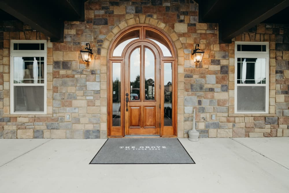 Entryway at The Grove at Stone Park in Pike Road, Alabama