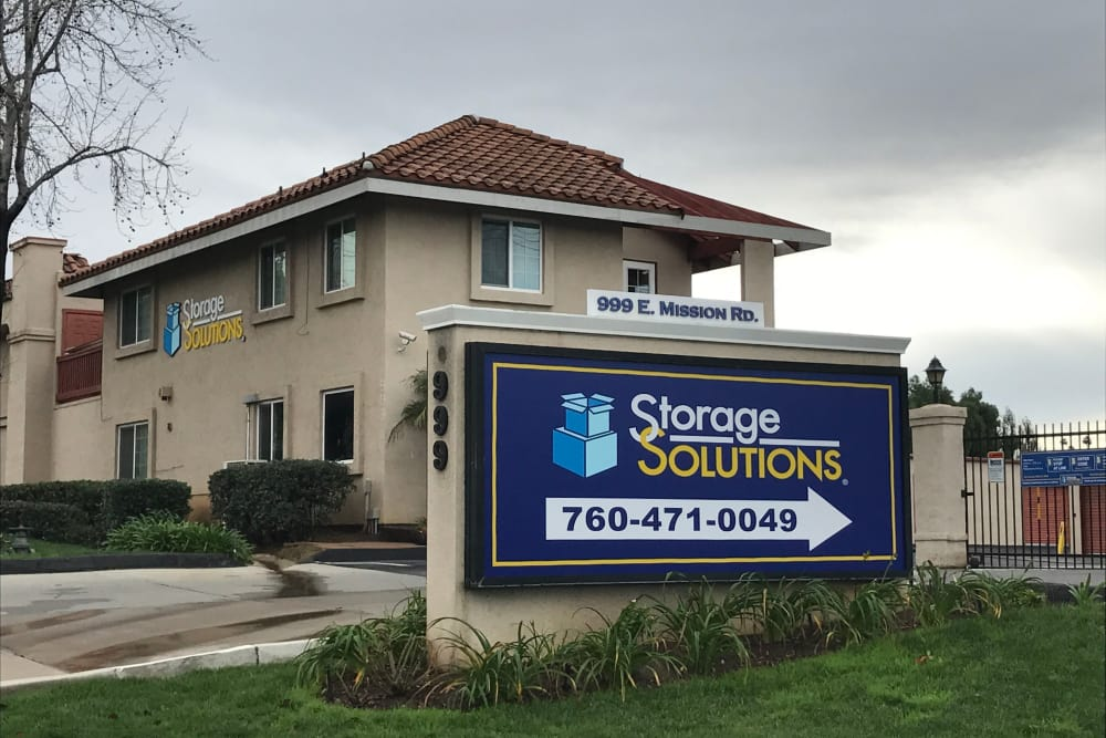 Front of Building at Storage Solutions in San Marcos, California