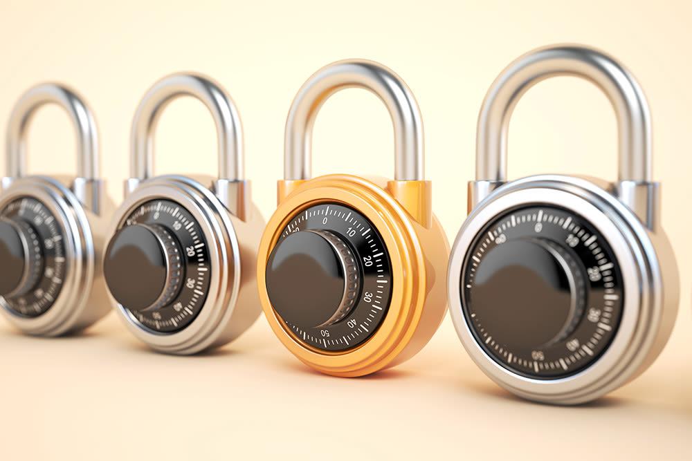 Secure locks at Prime Storage in Asheville, North Carolina