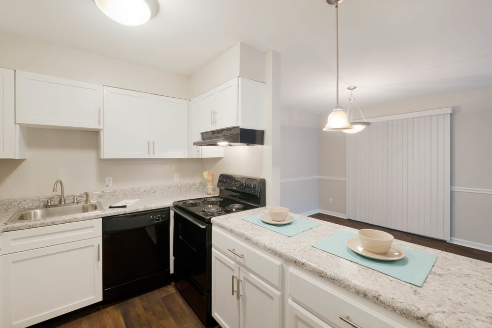 Modern kitchen at Normandy Apartments in Chattanooga, Tennessee