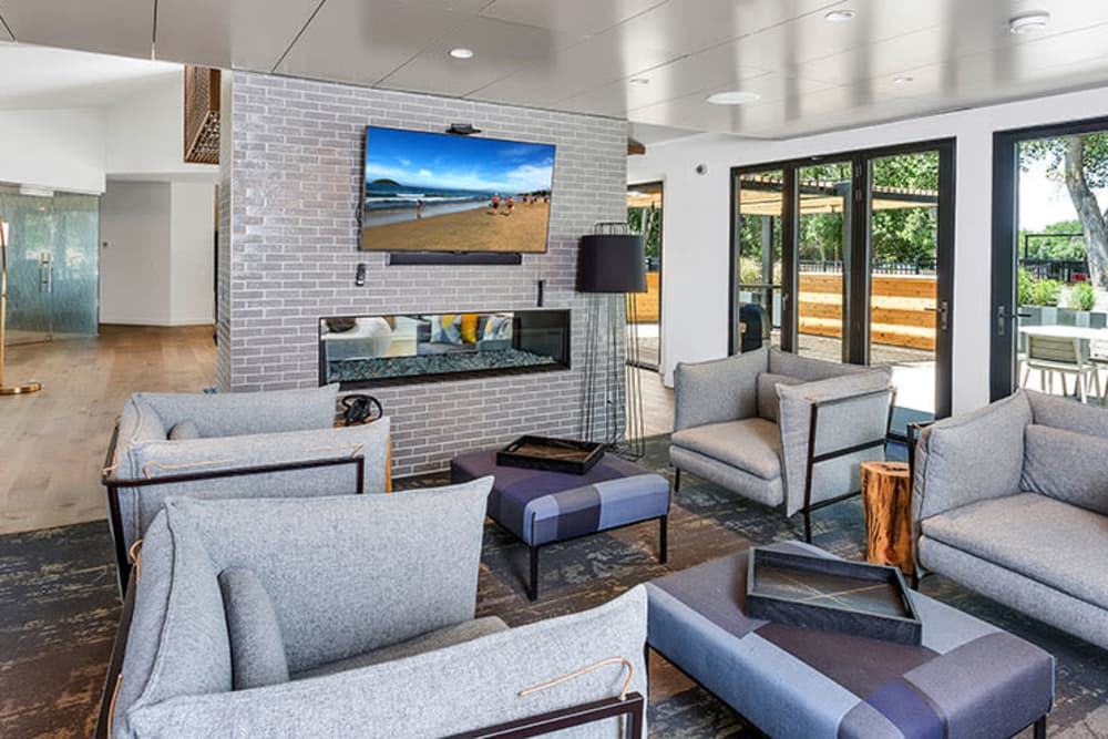 Community seating area at TAVA Waters in Denver, Colorado