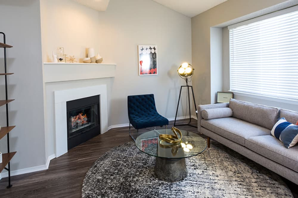 Living space at TAVA Waters in Denver, Colorado