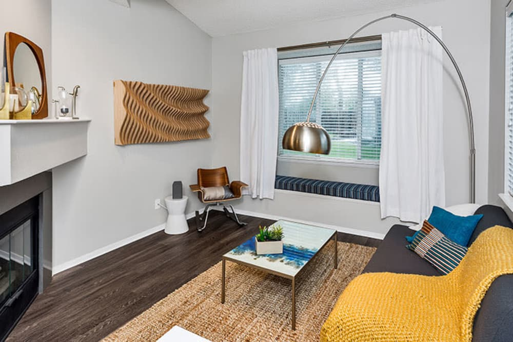Living room at TAVA Waters in Denver, Colorado