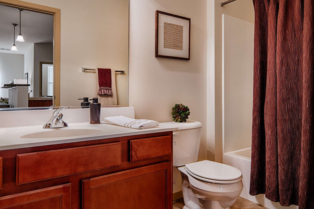 Bathroom model at The West End Apartments in Verona, Wisconsin