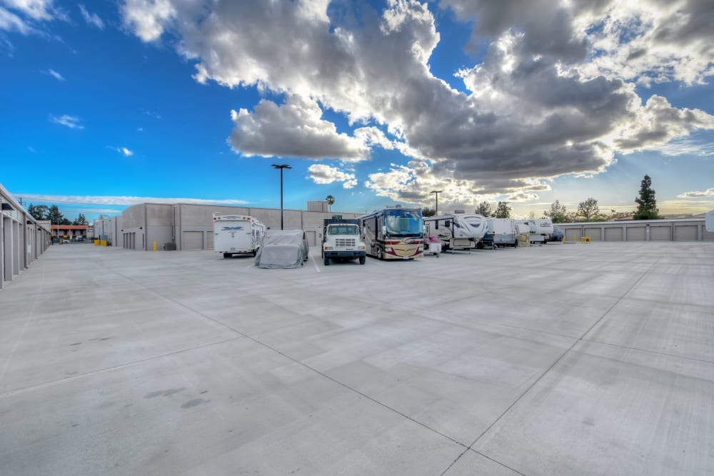 RV parking at My Self Storage Space in Brea, California