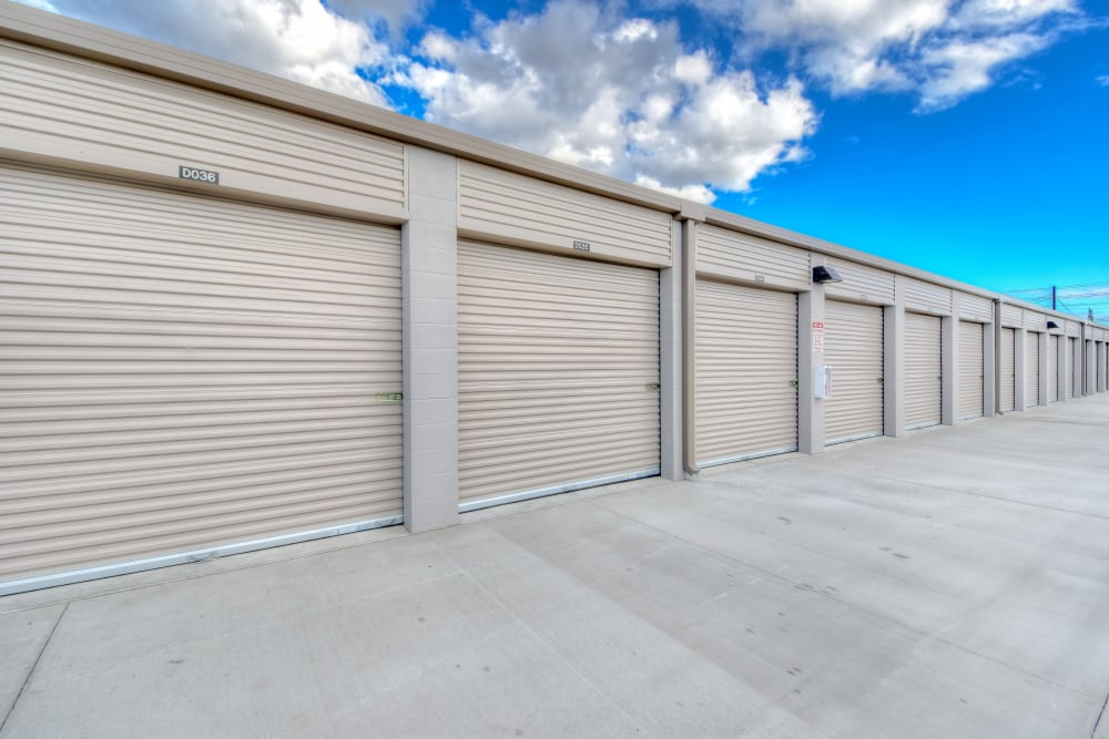 Drive-up units at My Self Storage Space in Brea, California