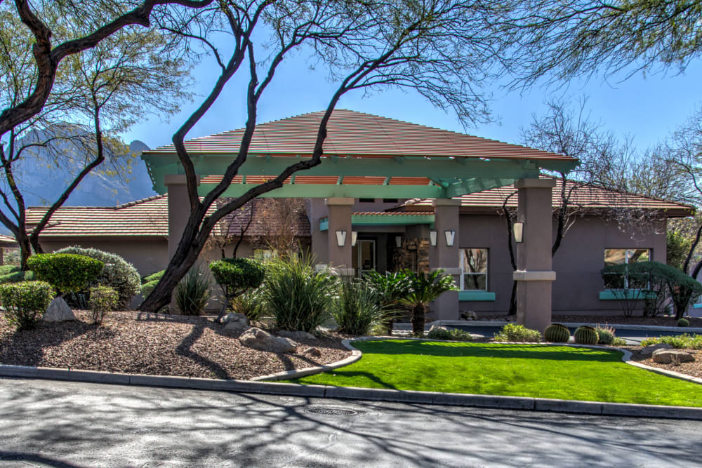 Clubhouse exterior at The Golf Villas at Oro Valley in Tucson, Arizona