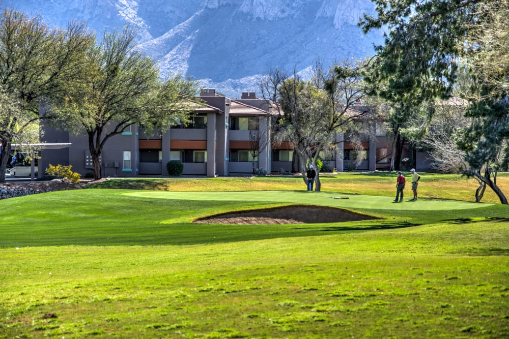 Golf course at The Golf Villas at Oro Valley in Tucson, Arizona