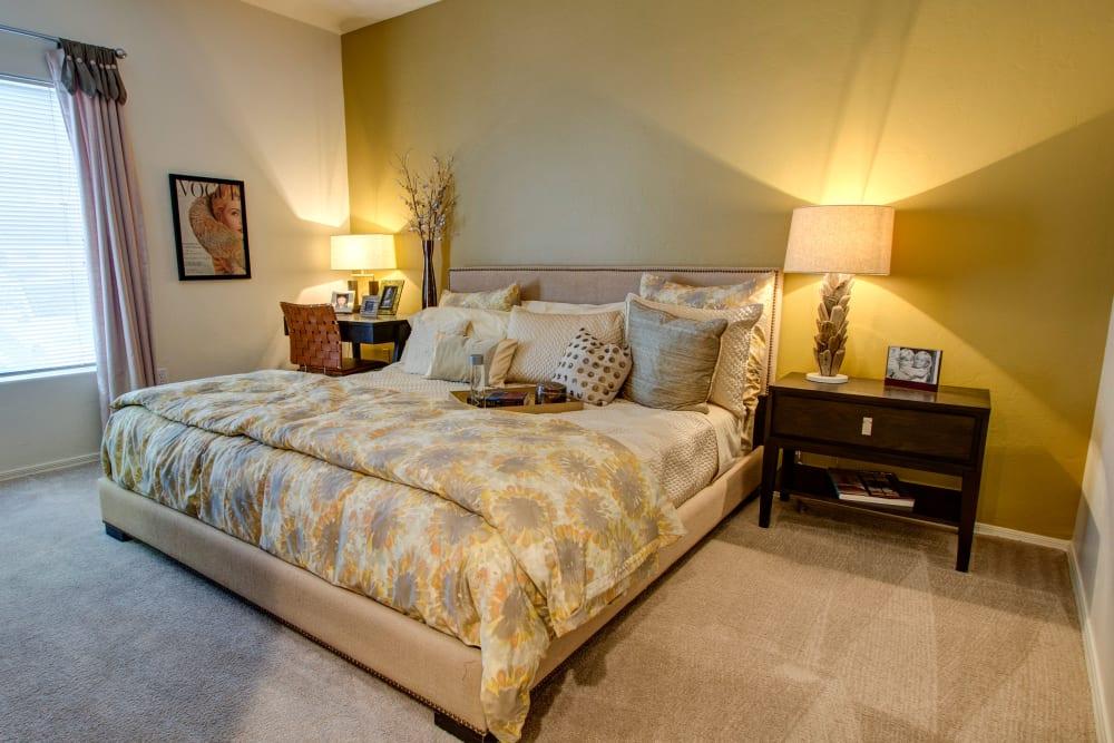 Master bedroom at The Golf Villas at Oro Valley in Tucson, Arizona
