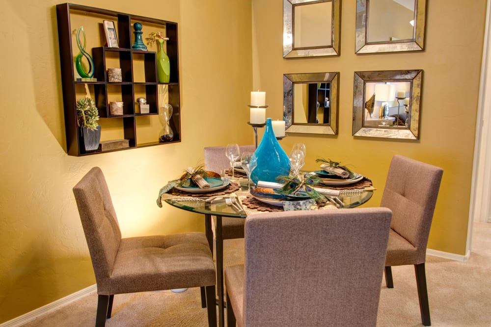 Dining room at The Golf Villas at Oro Valley in Tucson, Arizona