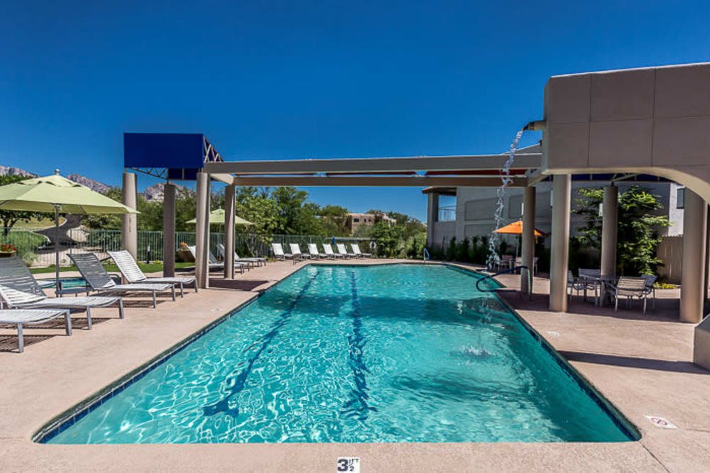 Resort style swimming pool at The Golf Villas at Oro Valley in Tucson, Arizona