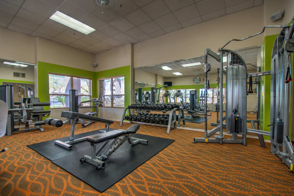 Fitness center for residents at The Golf Villas at Oro Valley in Tucson, Arizona