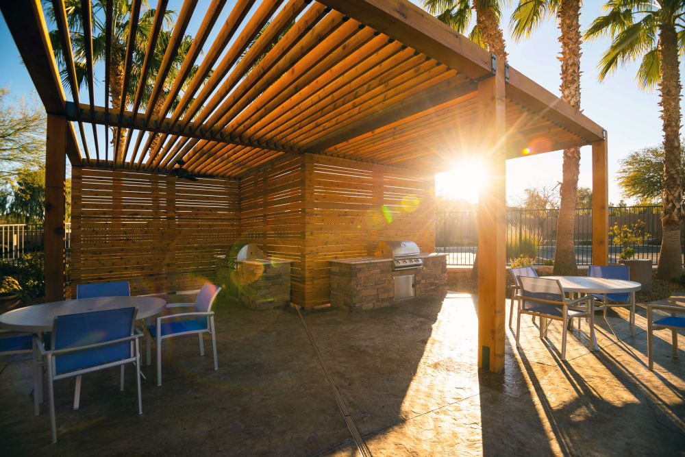 Outdoor Lounge at Norterra Canyon Apartments in North Las Vegas, Nevada