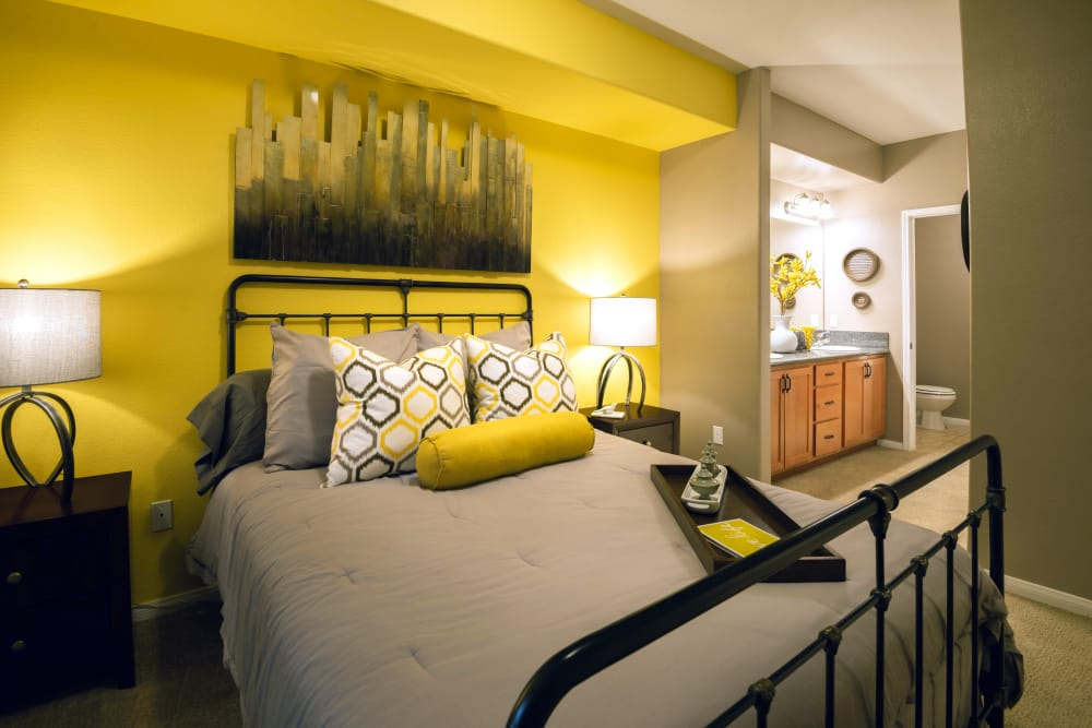 Bedroom at Norterra Canyon Apartments in North Las Vegas, Nevada