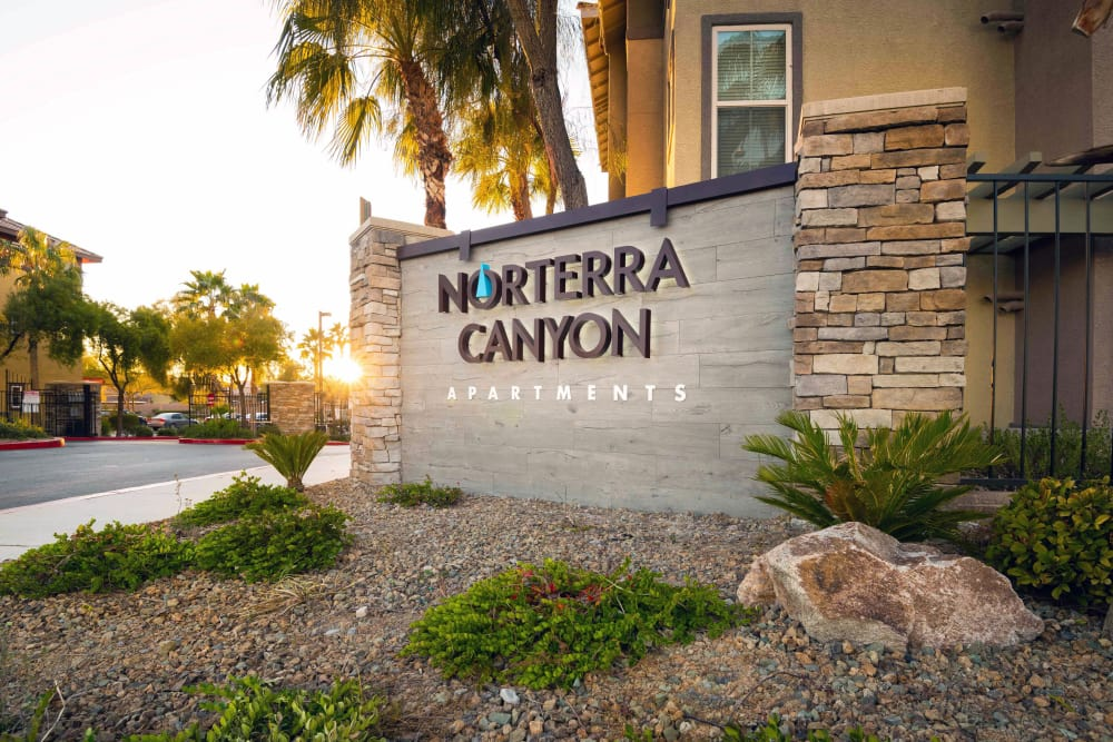 Entry Signage at Norterra Canyon Apartments in North Las Vegas, Nevada