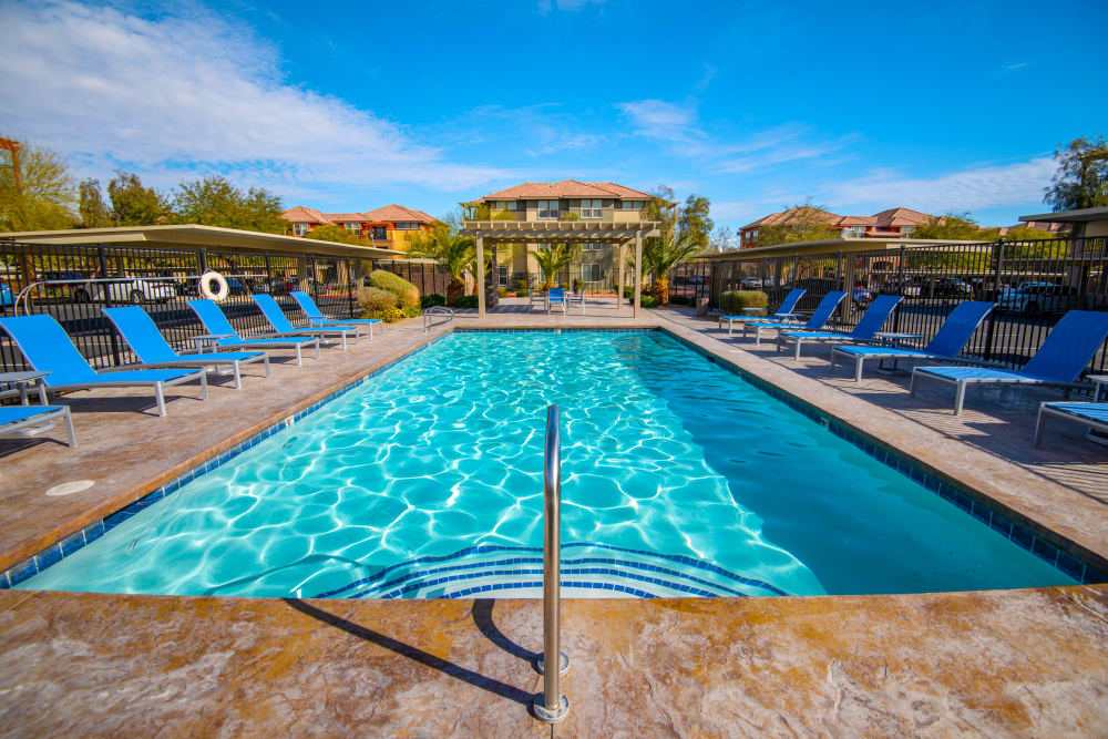 Swimming Pool at Norterra Canyon Apartments in North Las Vegas, Nevada