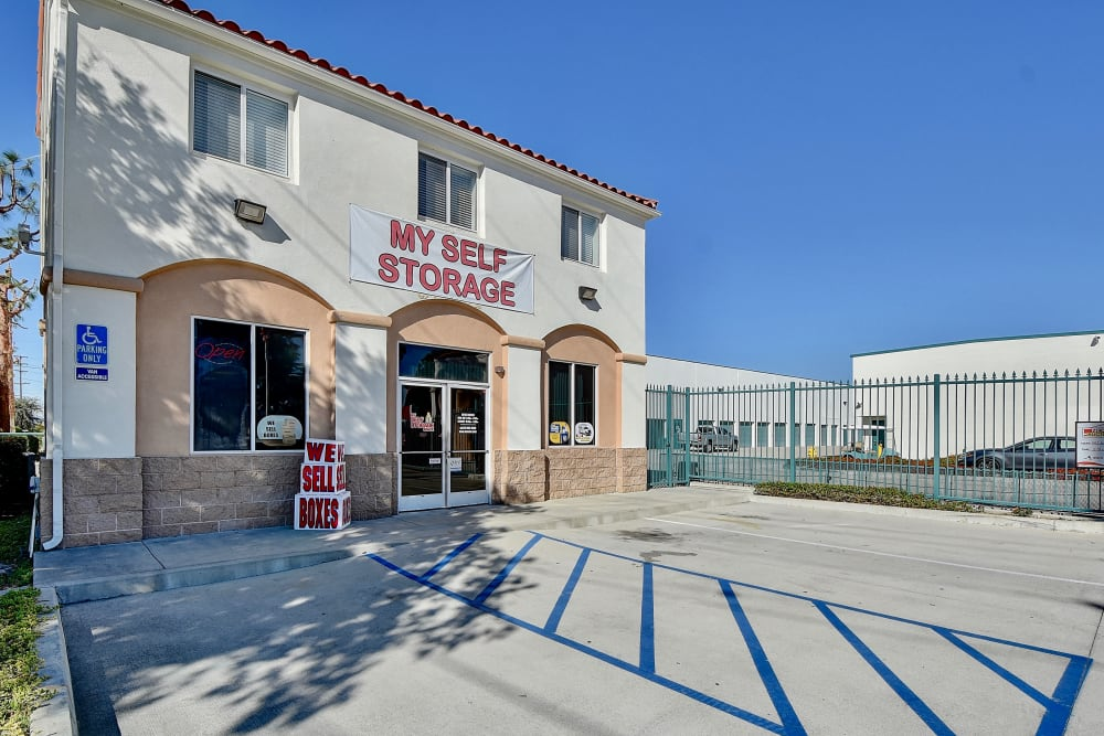 Office entrance at My Self Storage Space in West Covina, California