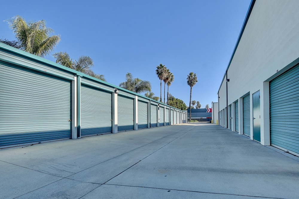 Wide driveways at My Self Storage Space in West Covina, California