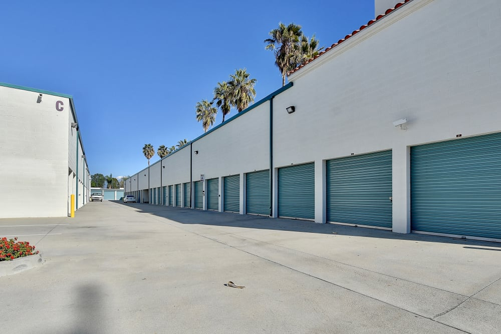 Drive-up units at My Self Storage Space in West Covina, California