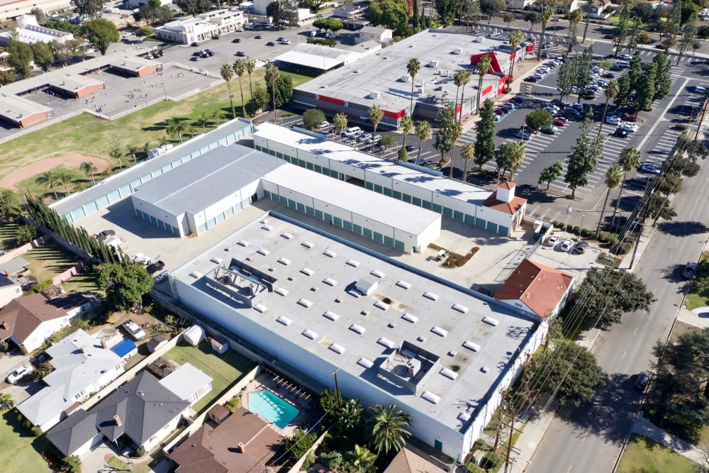 Aerial view of My Self Storage Space in West Covina, California