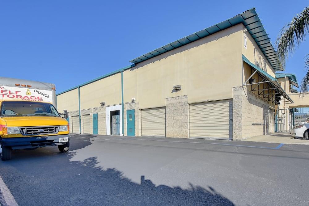 Moving van at My Self Storage Space in Orange, California