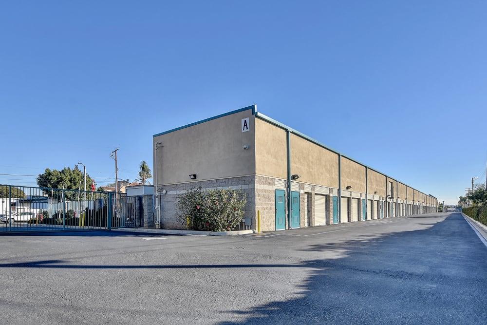 Wide driveways at My Self Storage Space in Orange, California