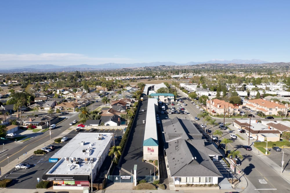 Aerial view of My Self Storage Space in Orange, California