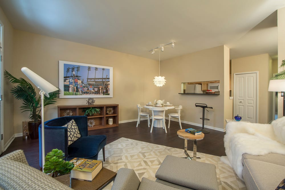 Spacious living room at Uptown in Canton in Canton, Michigan