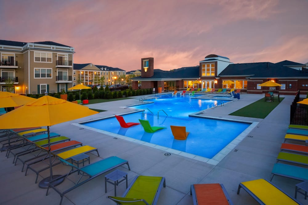 Resort-style swimming pool at Uptown in Canton in Canton, Michigan