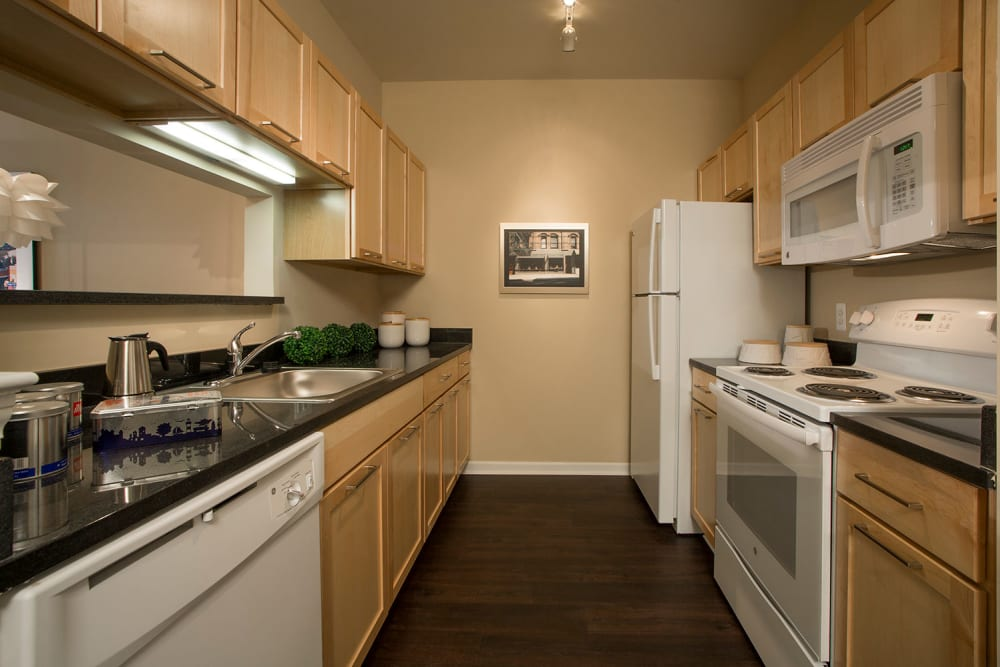 Fully equipped kitchen at Uptown in Canton in Canton, Michigan