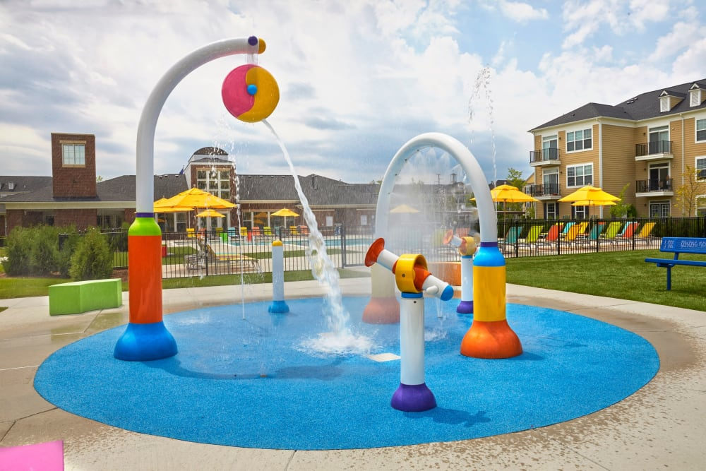 Splash zone at Uptown in Canton in Canton, Michigan