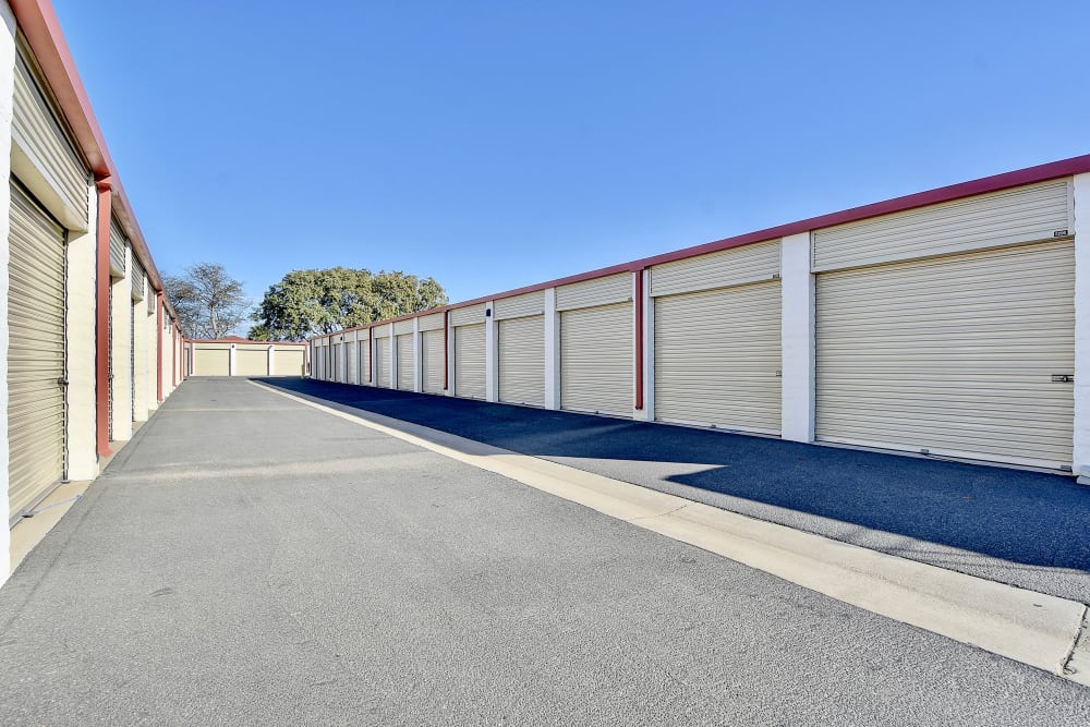 Drive-up units at My Self Storage Space in Camarillo, California
